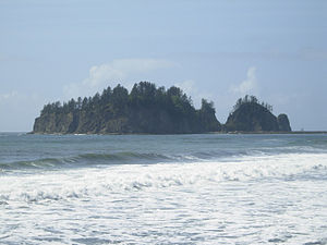 La Push, Washington - James Island from the beach at La Push