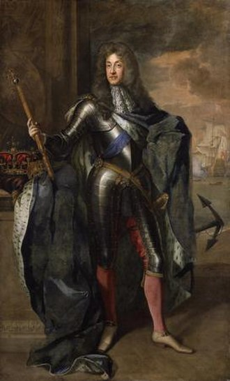 Glorious Revolution - James II & VII, King of England, Scotland and Ireland, by Sir Godfrey Kneller. National Portrait Gallery, London.
