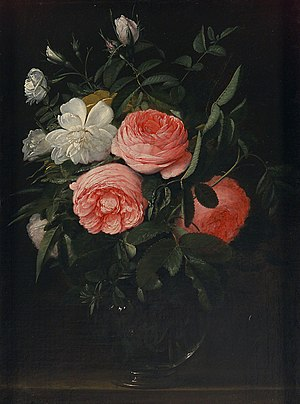 Jan Anton van der Baren - Glass with roses