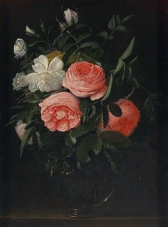 Jan Anton van der Baren - Glass with roses
