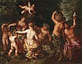 Jan Brueghel II and Hendrick van Balen - Venus, Bacchus and Ceres feasting in a wooded glade.jpg