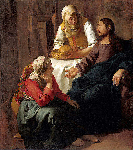 Jan Vermeer (attr.) - Christ in the House of Martha and Mary - National Gallery of Scotland