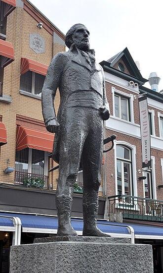 Jan van Hooff (politician) - Jan van Hooff (1981) by Auke Hettema on the Markt in Eindhoven.