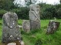 Janus figures, Caldragh Graveyard - geograph.org.uk - 885844.jpg