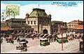 Japan 1934 stamped postcard showing a street scene - Osaka Station.jpg