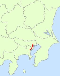 Japan National Route 15 road in Japan