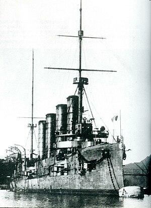 Russian cruiser Bayan (1900) - Aso at Maizuru, 1908