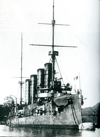 15 cm/45 41st Year Type - Image: Japanese cruiser Aso at Maizuru 1908