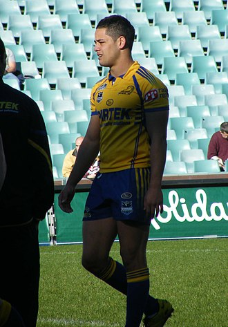 Jarryd Hayne - Hayne playing for Parramatta in 2008.