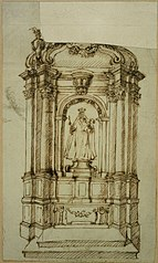 Sketch of an altar of Our Lady