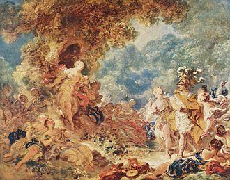 Armide (Gluck) - Rinaldo in the garden of Armida, painting by Fragonard