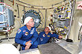 Jeff Williams Max Suraev inspect Mini-Research Module 2.jpg