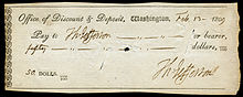 A cheque with Thomas Jefferson as payee and payor from 1809