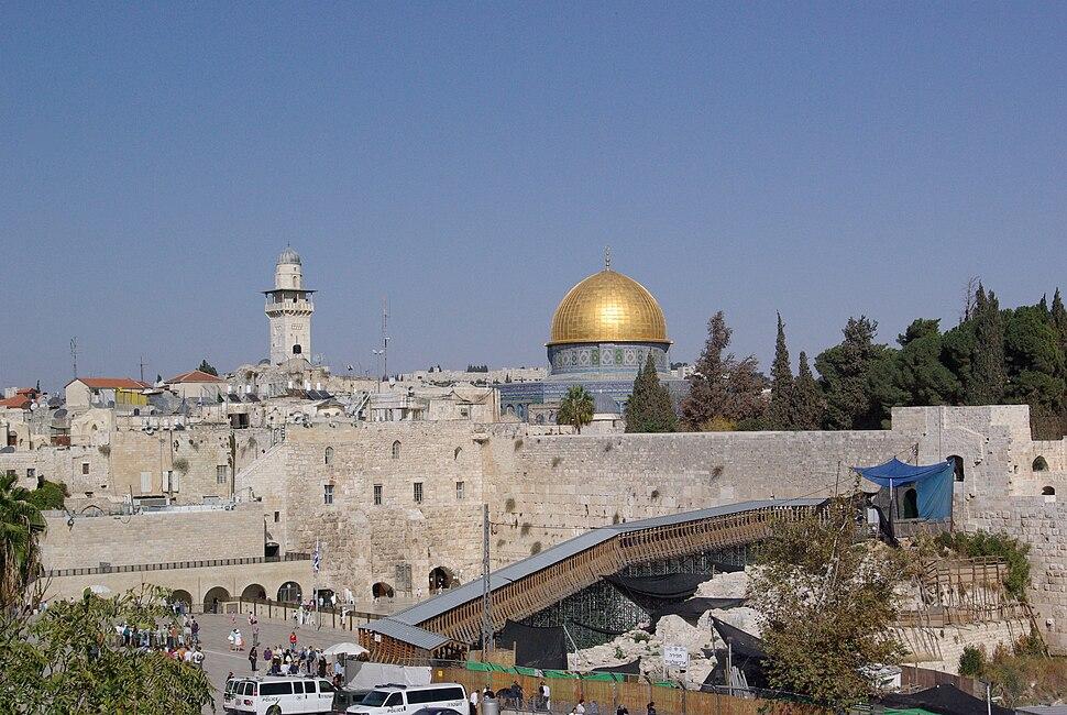 Jerusalem Dome of the rock BW 13