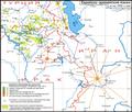 Jewish-Aramaic language map 1950s-Russian.png