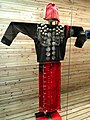 Jingpo woman woolen, silver-ornamented clothes - Yunnan Nationalities Museum - DSC04288.JPG