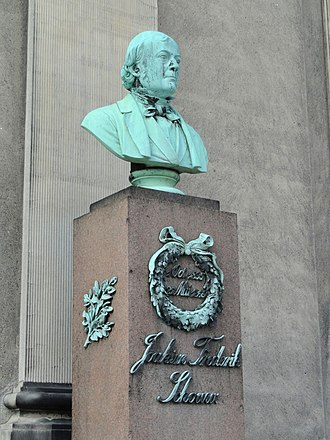 Joakim Frederik Schouw - H. W. Bissen's bust of Schouw outside the University of  Copenhagen's main building