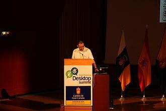 OCRFeeder - Joaquim Rocha introducing OCRFeeder on Gran Canaria Desktop Summit in July 2009