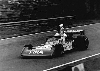 Jochen Mass - Mass driving for Surtees at the 1974 British Grand Prix at Brands Hatch