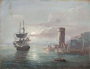 Coastal Landscape with a Round Tower