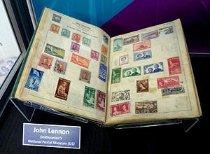 John Lennon - Lennon's childhood stamp collection