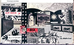 John McHale (artist) - Image: John Mc Hale, Photomontage Airlines, 1959