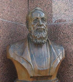History of Fredericksburg, Texas - Bust of Baron von Meusebach in Fredericksburg Town Square