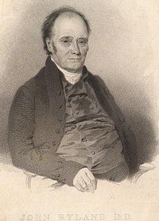 John Ryland English Baptist minister