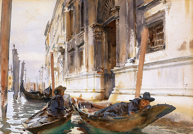 From commons.wikimedia.org: John Singer Sargent, Gondoliers' Siesta {MID-226042}