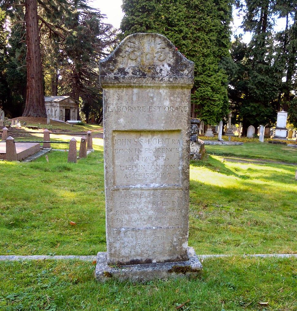 John Singer Sargent Grave 2016