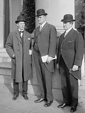 John K. Tener - Governor Tener (center) with Governors John Dix and William Sulzer of New York