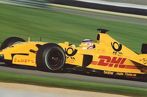 Jordan EJ12 - Takuma Sato driving for the Jordan Grand Prix team at Indianapolis in 2002