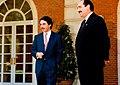 José María Aznar recibe al presidente del Principado de Asturias. Pool Moncloa. 4 de junio de 1996.jpeg