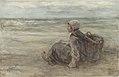 Jozef Israëls - Vissersmeisje op het strand.jpg