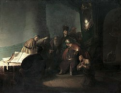 Rembrandt: Judas Repentant, Returning the Pieces of Silver