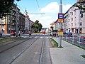Jugoslávských partyzánů, tramvajová zastávka Zelená.jpg
