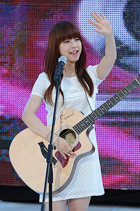 Juniel (South Korean singer) at Super M Concert, on July 28, 2012.jpg