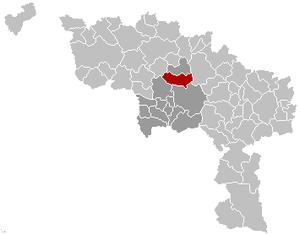 Jurbise - Image: Jurbeke Location