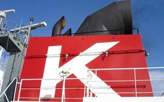 "K Line - Stack of K Line vessel ""Vincent Thomas Bridge"""