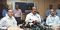 K.V. Thomas addressing a press conference about the State Food Ministers' Meet to discuss implementation of the National Food Security Act.jpg