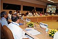K.V. Thomas reviews the storage and movement of foodgrains with state food ministers and secretaries.jpg