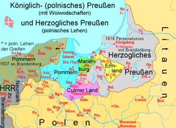 Prussia in 1466 before the Second Peace of Thorn