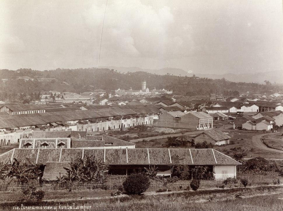 KITLV - 105899 - Lambert & Co., G.R. - Singapore - Panoramic view of Kuala Lumpur - circa 1900