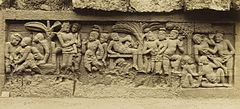 KITLV 40069 - Kassian Céphas - Relief of the hidden base of Borobudur - 1890-1891.jpg