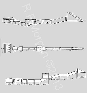 KV47 - Isometric, plan and elevation images of KV47 taken from a 3d model