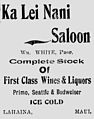 Ka Lei Nani Saloon, The Maui News., December 7, 1901.jpg