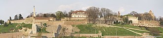 Belgrade Fortress - Image: Kalemegdan panorama Apr 2011wtmk