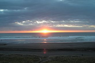 Karioitahi Beach - Sunset at Karioitahi Beach.