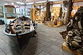 Karmsund folkemuseum (Regional Museum) Haugesund Norway 2020-06-10 Fiskeri Teinefiske Heimefiske Færing Strandebarmbåt 1880 Garn Landnot Utsira Sjøfart Skutemalerier (Traditional fishing equipment rowboat nets) etc DSC00257.jpg