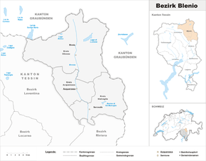 Map of Blenio district
